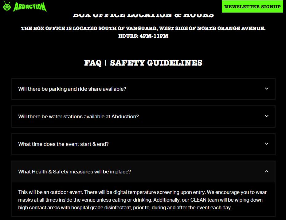 Abduction website FAQs