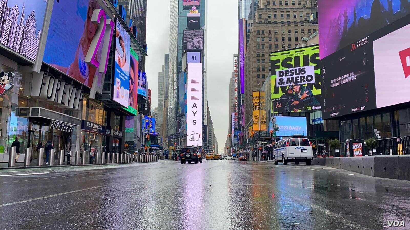 image1Empty NY street.