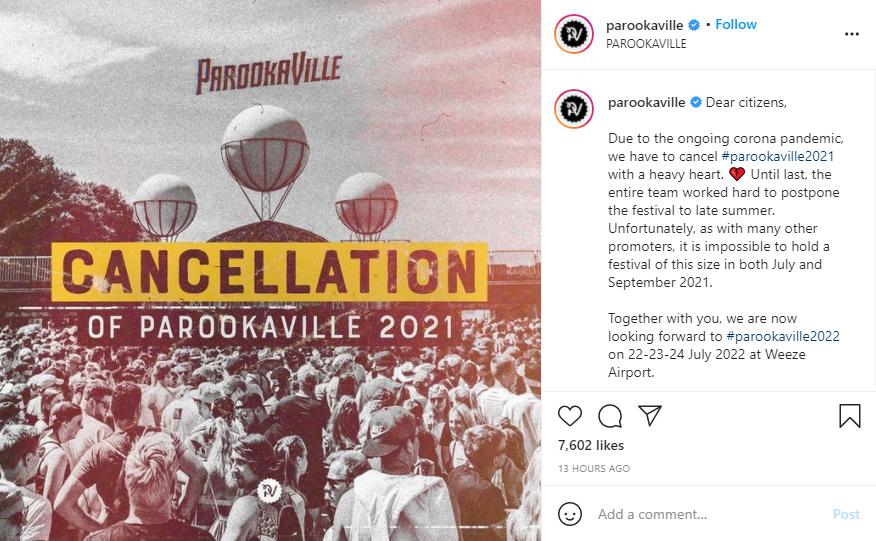 Parookaville Cancellation