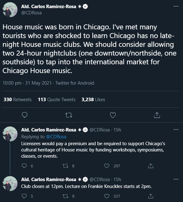 Chicago Alderman Carlos Ramirez-Rosa thinks the city needs more House clubs