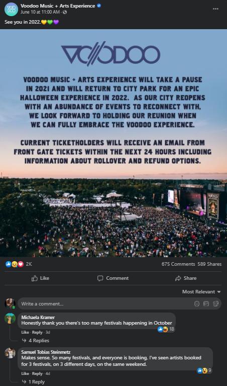 Voodoo 2021 Skip announcement